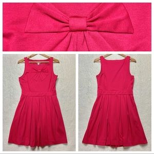 LC Lauren Conrad Fit Flare Dress 12 Hot Pink Bow